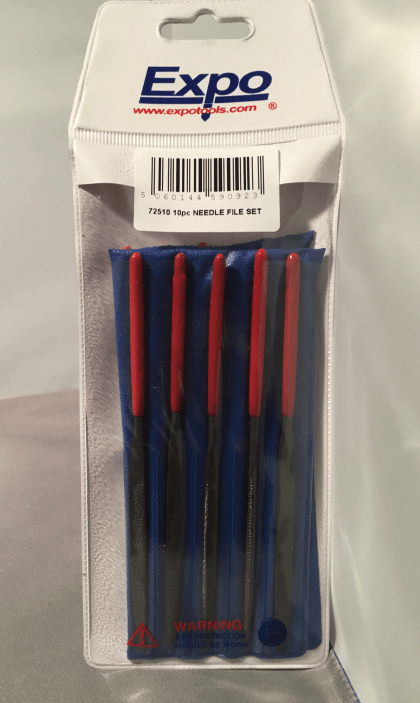 Image Of product Set of 10 Steel Needle Files in wallet - supplied by MPB Model Supplies