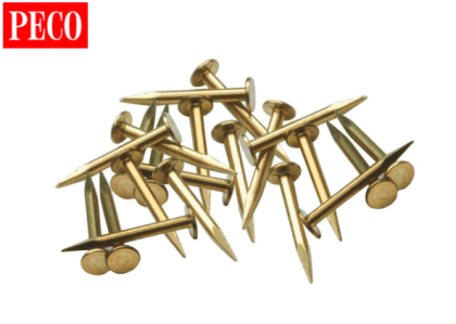 Image Of product Track Nails Brass - supplied by MPB Model Supplies