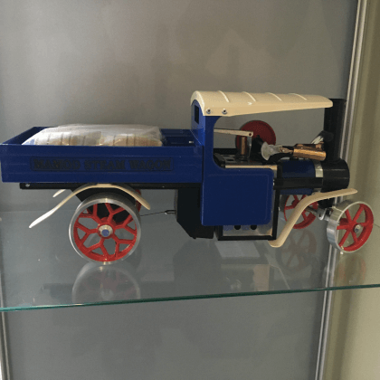 Image Of product Mamod Blue Steam Wagon - supplied by MPB Model Supplies