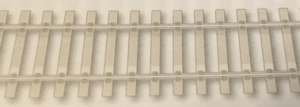 Image Of product Concrete sleeper type, nickel silver rail       - supplied by MPB Model Supplies